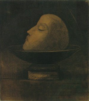 Odilon Redon - Head of a Martyr 1877