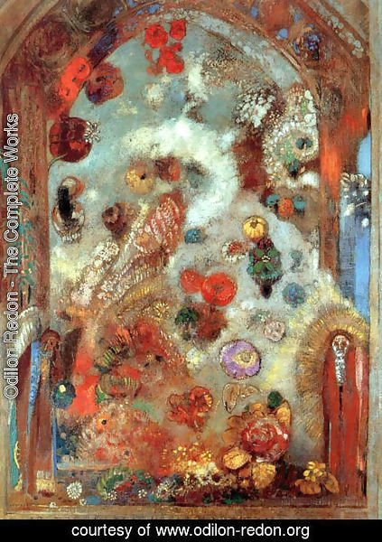 Odilon Redon - Stained Glass Window (Allegory) 1908