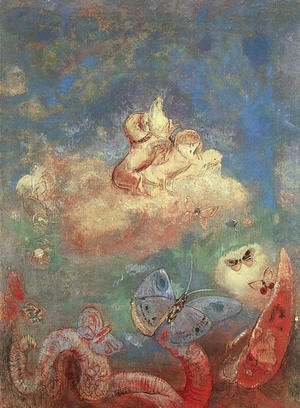 Odilon Redon - The Chariot of Apollo 1912