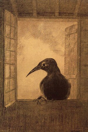 Odilon Redon - The Raven 1882