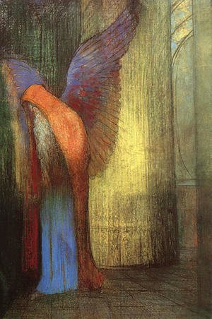 Odilon Redon - Winged Old Man with a Long White Beard
