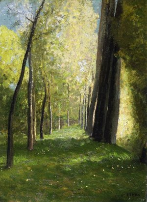 Odilon Redon - Lane of Trees