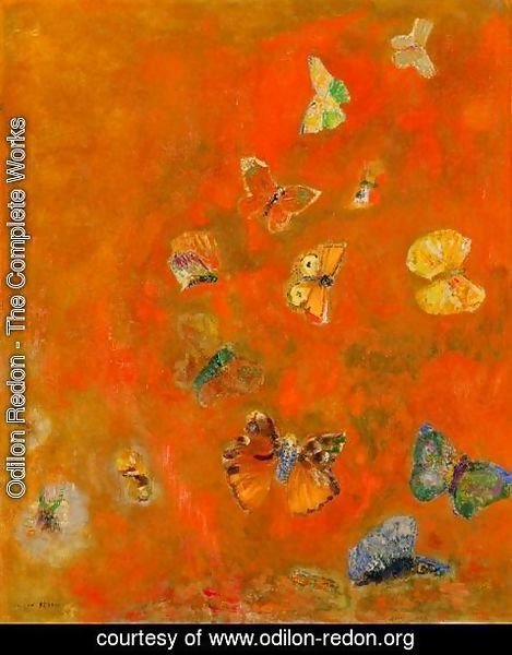 Odilon Redon - Evocation of Butterflies