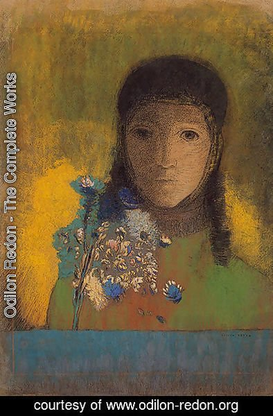 Odilon Redon - Woman with Wildflowers