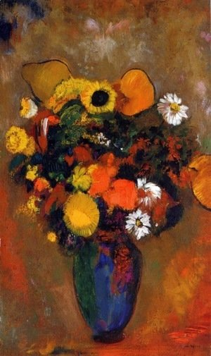 Odilon Redon - Flowers in a Green Vase
