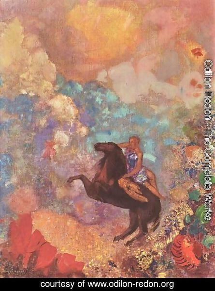 Odilon Redon - Muse on Pegasus