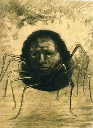 Odilon Redon - The Crying Spider