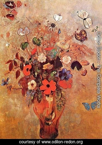 Odilon Redon - Vase with Flowers and Butterflies 2