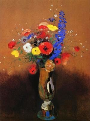 Wild Flowers in a Long-Necked Vase 2