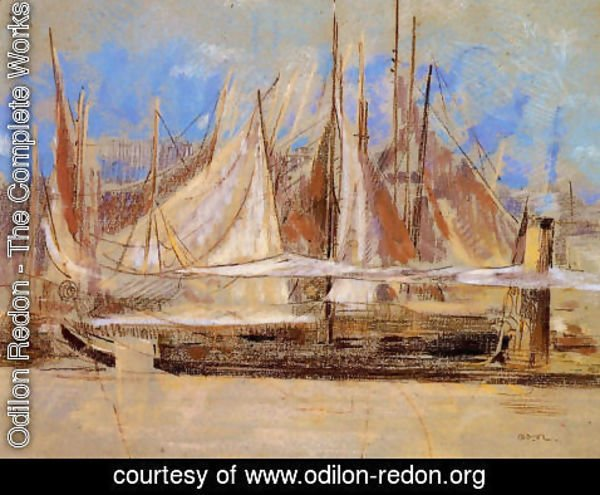 Odilon Redon - Yachts at Royan