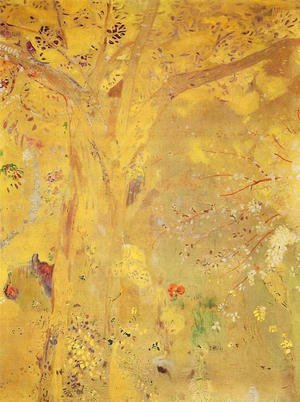 Odilon Redon - Yellow Tree