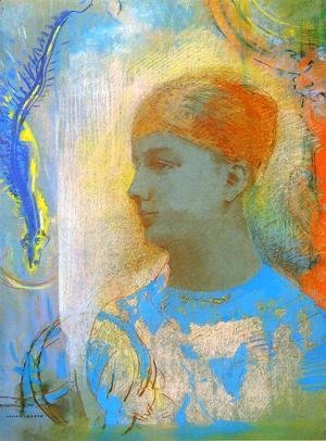 Odilon Redon - Young Girl Facing Left