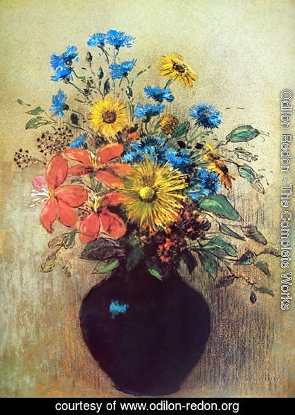 Odilon Redon - Flowers from field