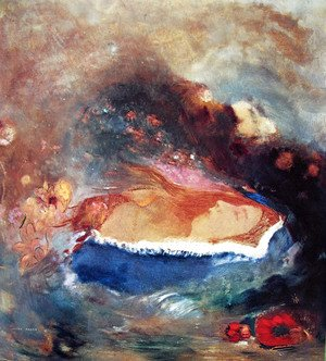 Odilon Redon - The blue mantle
