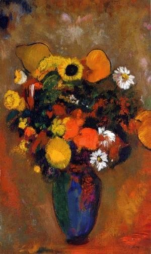 Odilon Redon - Flowers in a Green Vase 1912