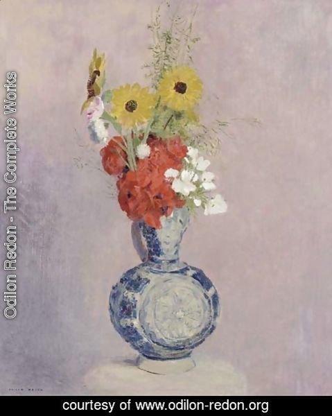 odilon redon the complete works bouquet de fleurs dans. Black Bedroom Furniture Sets. Home Design Ideas