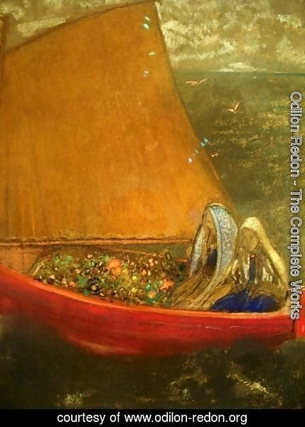 Odilon Redon - La Voile Jaune (The Yellow Sail)