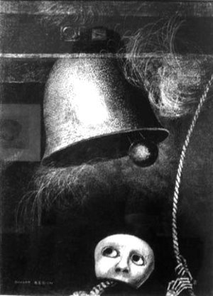 Odilon Redon - A mask tolls the knell