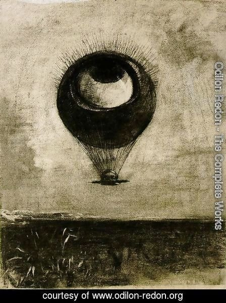 Odilon Redon - The Eye Like A Strange Balloon Mounts Toward Infinity