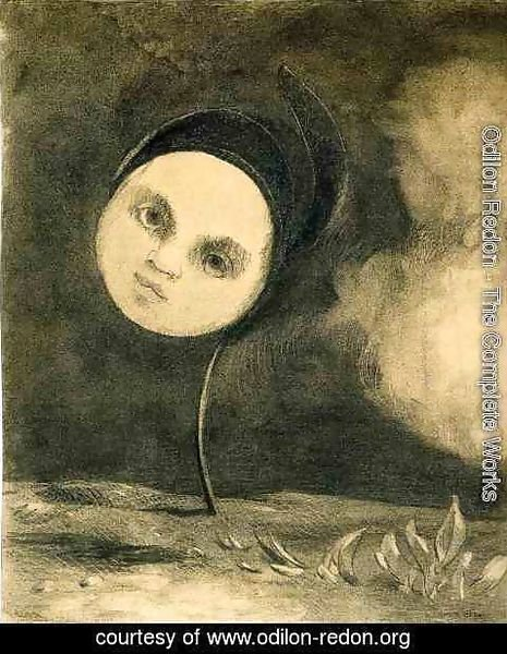 Odilon Redon - Head on a Stem