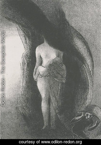 Odilon Redon - I am still the great Isis None has yet lifted my veil My fruit is the Sun (plate 16)