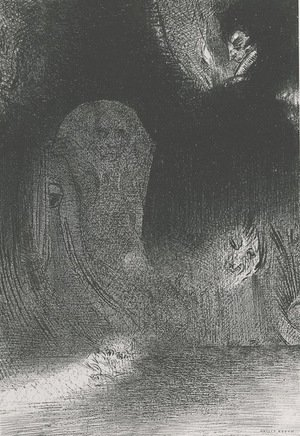 I have sometimes seen in the sky what seemed like forms of spirits (plate 21)