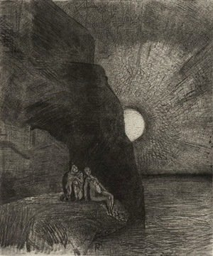 Odilon Redon - Ceaselessly by my side the demon stirs