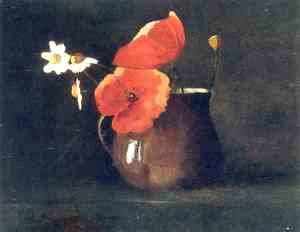 Odilon Redon - Flowers in green vase