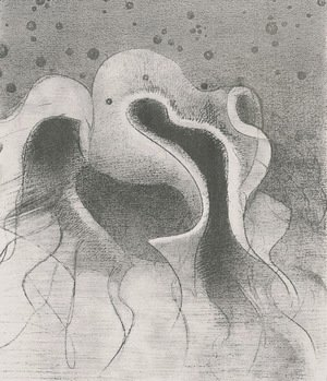 Odilon Redon - The beasts of the sea, round like leather bottles (plate 22)