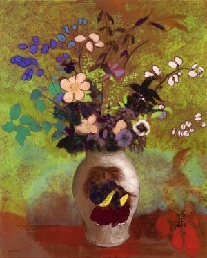 Odilon Redon - Vase with Japanese Warrior