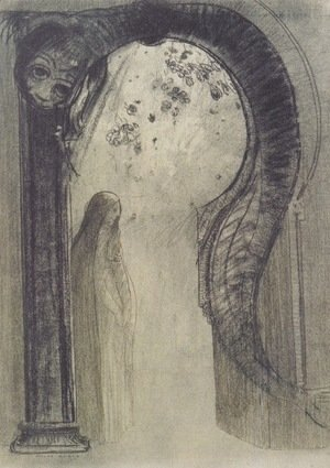Odilon Redon - Woman and Serpent