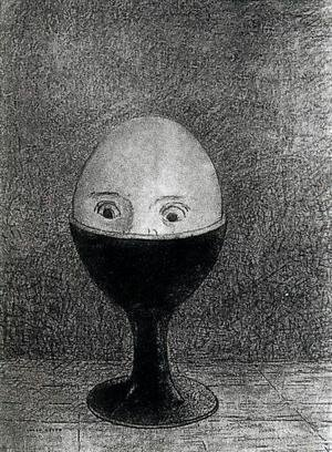 Odilon Redon - The Egg