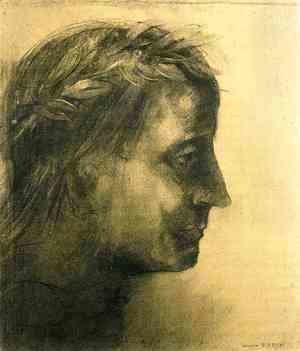 Odilon Redon - The laureate head