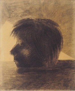 Odilon Redon - Head of Orpheus on the Water or The Mystic