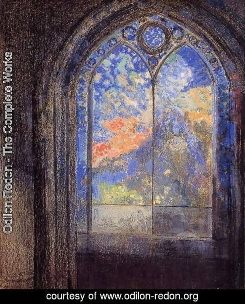 Odilon Redon - Stained Glass Window (The Mysterious Garden)