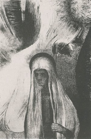 Odilon Redon - The Old Woman What are you afraid of A wide black hole Perhaps it is a void (plate 19)