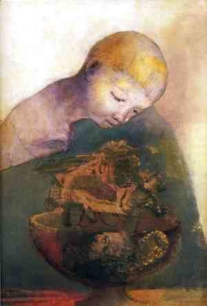 Odilon Redon - Cup of cognition (The Children's Cup)