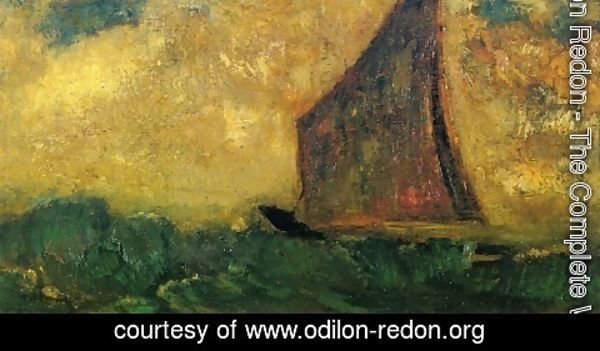 Odilon Redon - The Mysterious Boat 2