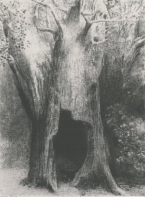Odilon Redon - I plunged into solitude. I dwelt in the tree behind me. (plate 9)