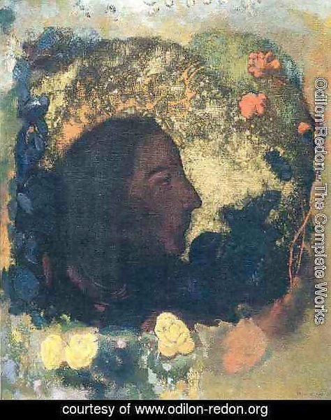 Odilon Redon - Black Profile Aka Gauguin