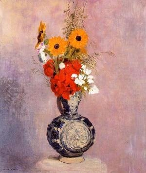 Odilon Redon - Bouquet Of Flowers In A Blue Vase2