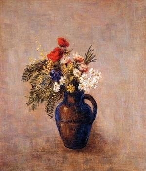 Bouquet Of Flowers In A Blue Vase3