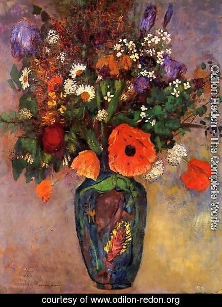 Odilon Redon - Bouquet Of Flowers In A Vase