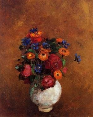Odilon Redon - Bouquet Of Flowers In A White Vase