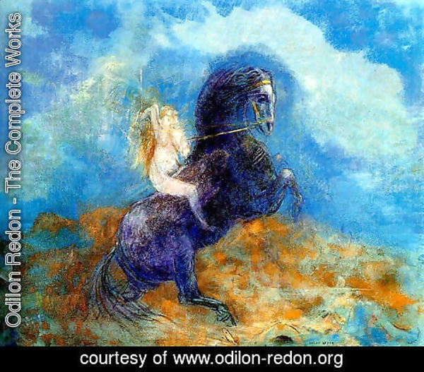 Odilon Redon - Brunhild Aka The Valkyrie