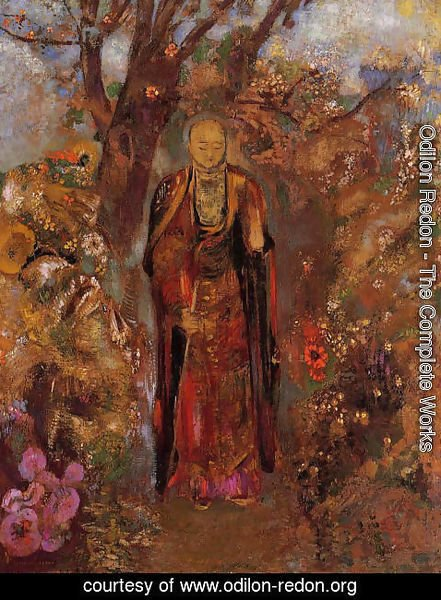 Odilon Redon - Buddah Walking Among The Flowers