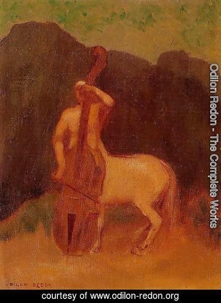 Odilon Redon - Centaur With Cello
