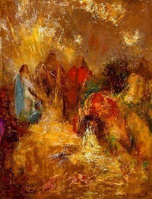 Odilon Redon - Christ And His Desciples