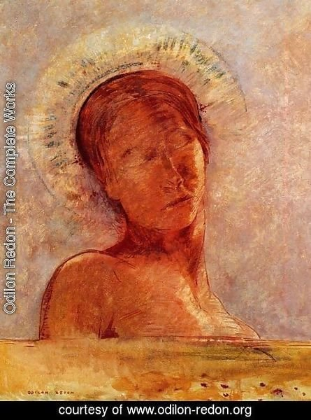 Odilon Redon - Closed Eyes3
