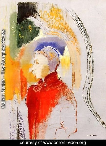 Odilon Redon - Figure In Profile